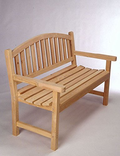 Monet Outdoor Bench - Tidewater Workshop American-Made 4' Monet Bench