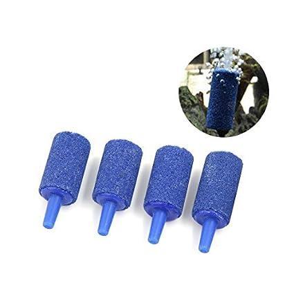 eDealMax 4 PCS 25x15mm Azul de la burbuja de aire Stones Difusores Para tanque de peces
