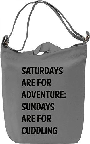 Saturdays and Sundays Borsa Giornaliera Canvas Canvas Day Bag| 100% Premium Cotton Canvas| DTG Printing|