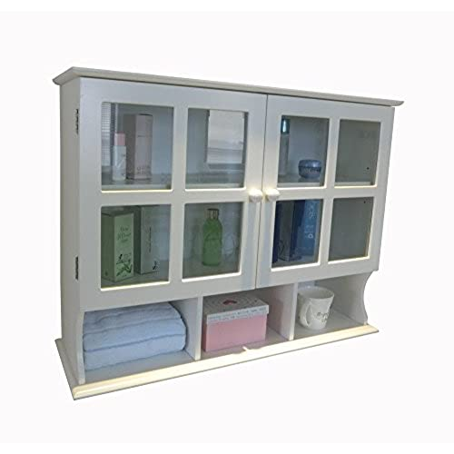 Homecharm 31.5x9.6x24 Inch Wall Cabinet,White (HC 032)