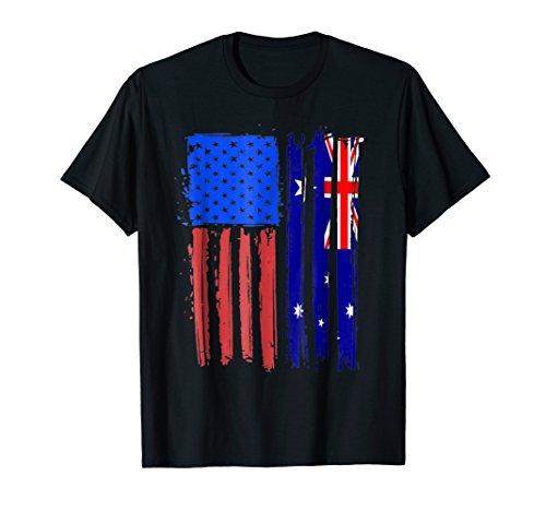 Half Australian American Flag Classic Patriot Australia Tee (Best Australian Gifts To Send Overseas)