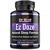 Dr. Emil - Natural Sleep Aid with Valerian Root, Melatonin, Chamomile & More - Extra Strength Sleeping Pills for Adults – Safe & Non-Habit Forming (60 Veggie Capsules)