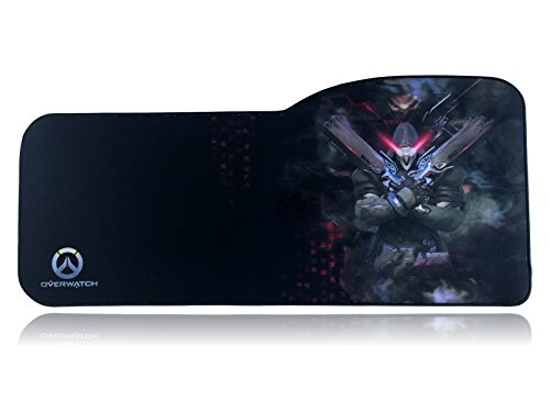 Overwatch Extended Size Custom Gaming Mouse Pad - Anti Slip Rubber - Stitched Edges - Large Desk Mat - 28.5