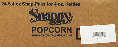 Snappy Popcorn White Snap-Paks White Popcorn and Salt Corn Oil, 24-Count