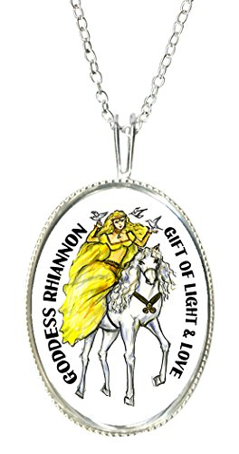 Goddess Lady Cameo - Goddess Rhiannon Gift of Light & Love 925 Sterling Silver 1