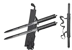 23 1/2-inch DUAL TACTICAL NINJA SWORD Machete