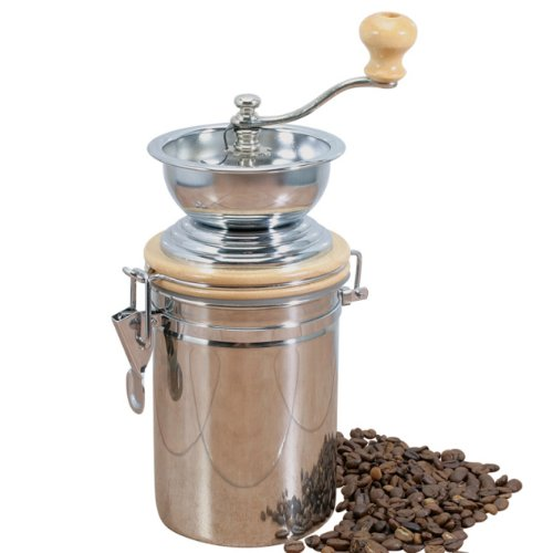 Danesco Stainless Steel Manual Coffee Grinder - 8 Inch
