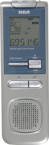RCA VR5330R 2GB USB Digital Voice Recorder by RCA