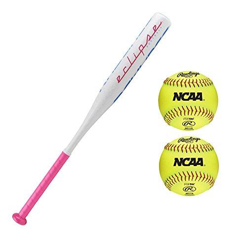 Rawlings 2018 Eclipse Softball Bat and Softballs (30''/18 oz) by Rawlings