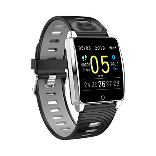 Matoen Sport Fitness Smart Watch Message Reminder Tracker Heart Rate Step Calorie Sleep Sedentary Monitor Waterproof Smartwatch Men Women (White)