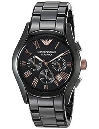 Emporio Armani Men's AR1410 Valente Black Ceramic Watch