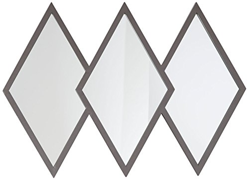 - Silverwood Holly Diamond Trio Wall Mirror, Gunmetal Gray