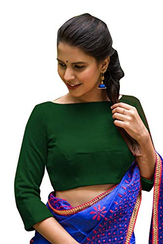 Women's Party Wear Readymade Bollywood Designer Indian Style Padded Blouse for Saree Crop Top Choli