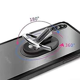 Multipurpose Phone Ring Holder,Mobile Phone Bracket Holder,Air Vent Car Phone Mount and Finger Grip Ring Kickstand,360…