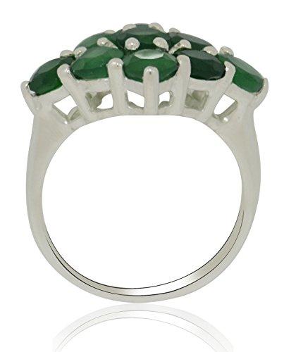 Banithani 925 bague en argent sterling bande design de pierres précieuses onyx vert cadeau de bijoux de mode