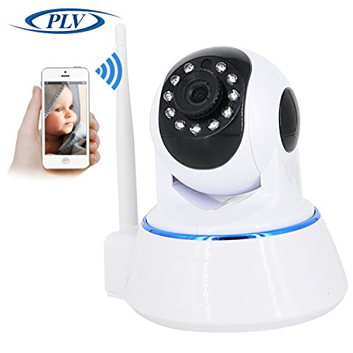 PLV 1080P WiFi Wireless IP Security Camera, for Baby /Elder/ Pet/Nanny Monitor, Plug/Play, Pan/Tilt, Two-Way Audio & Night Vision Home Surveillance Camera (White)