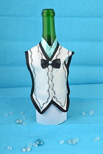 Decoracion para botella de cava frac de raso traje de novio ...