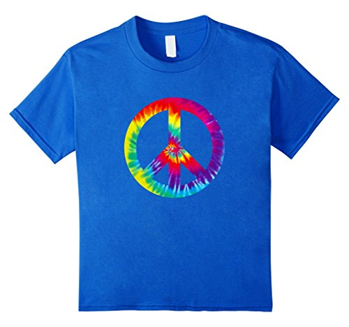Peace Sign T Shirt 60s 70s Tie Die Hippy Costume