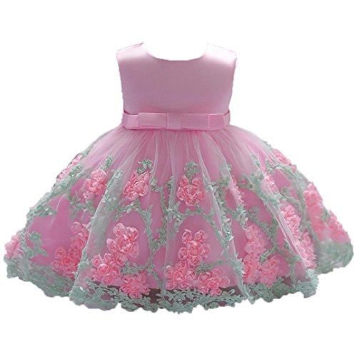 Feitong Flower Baby Girls Sleeveless Princess Tutu Dress Print Formal Clothing Dresses