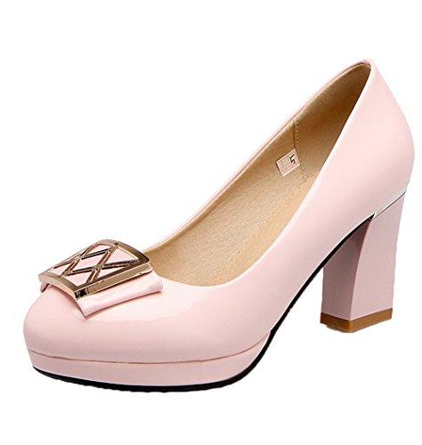 Amoonyfashion Scarpe Da Donna Con Tacco A Spillo Tacco Alto In Vernice Rosa