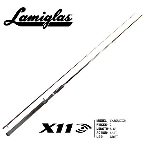 Lamiglas LX86MCGH X-11 Castingdrift Rod W/Graphite Handle 8'6