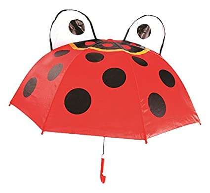 1532a4f609535 Amazon.com: Kids Umbrella - Childrens 18 Inch Rainy Day Umbrella - Ladybug:  Toys & Games