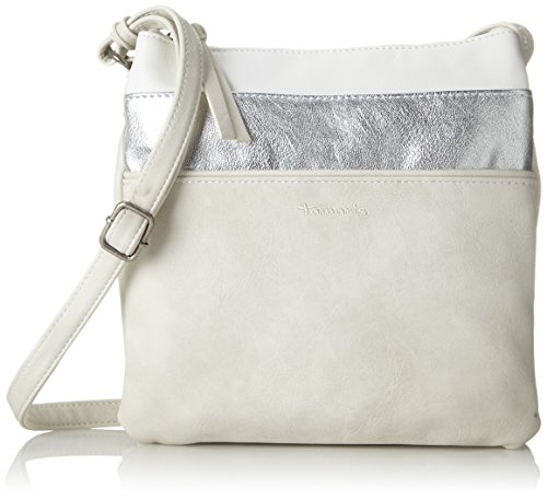 Tamaris Khema Crossbody Bag - Bolsos bandolera Mujer Blanco (Off White Comb)