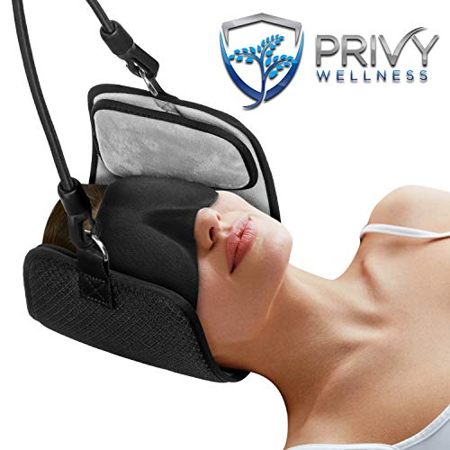 Neck Hammock for Neck Pain by Privy Wellness; Cervical Traction Device for Relief Muscle Relaxation and Headaches - Portable Home and Office Therapy for Stretching Circulation Decompression of -
