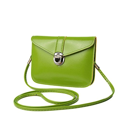 UKAP - Bolso al hombro para mujer Size: 17cm(l)*12.5(h) yellow Size: 17cm(l)*12.5(h) green