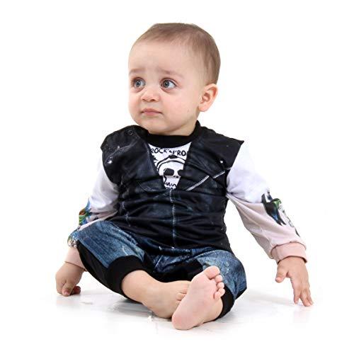 Macacão Motoqueiro Bebê Sulamericana Fantasias 6 Meses