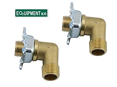 "EquipmentBlvd 2 Sets of Wall Mount Faucet 1/2"" NPT Mounting Kit, AA-KIT"