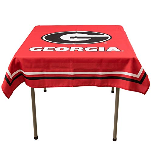 College Flags and Banners Co. Georgia Bulldogs Logo Tablecloth or Table Overlay ()