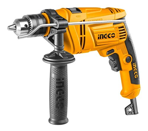 INGCO POWERTOOLS & HANDTOOLS 650W Impact Drill 3000RPM 13 mm Variable Speed (ID6538, Yellow and Black) 1