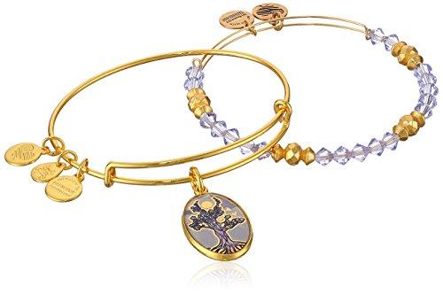 Alex and Ani Women's Art Infusion Set Tree of Life Bangle Bracelet, Shiny Gold, Expandable