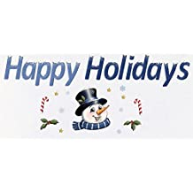 Happy Holidays Christmas Garage Magnets, Blue