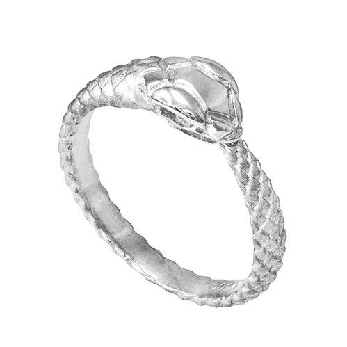 Ring Snake Gold White (10k White Gold Ouroboros Snake Ring (Size 6.25))
