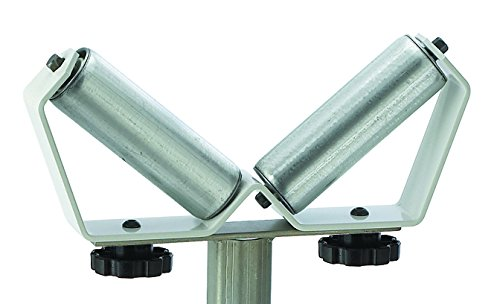 """Adjustable V-Shaped Pipe Roller Super Duty Stand HTC HSV-18 with Two 6"""" V-Shaped Rollers"""