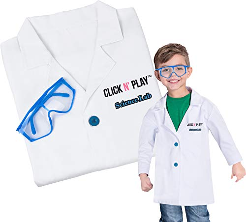 Click N' Play Science Lab Role Play Dress Up Set White -