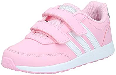 Adidas VS SWITCH 2 CMF C, Unisex Kid's Sneakers, Pink (True Pink/Ftwr White/Grey Two F17), 2.5 UK, (35 EU),F35694