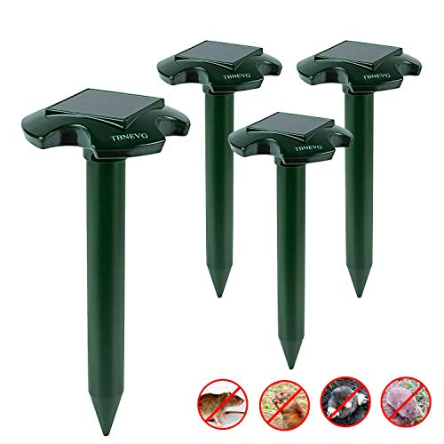 TBNEVG Solar Mole Repeller,2018 Upgraded Ultrasonic Mole Repellent Repels Mole/Vole/Shrew/Gopher/Chipmunk/Mice/Rat And Other Rodents,Powerd Pest Control