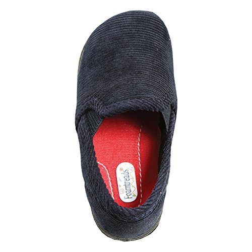 Foamtreads Little Kid/Big Kid Popper Slipper,Navy,10 M US Toddler 10 Popper