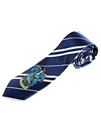 """Harry Potter House Crest Tie 57"""" x 2.75"""" InspireMe Family Owned (Ravenclaw - Blue/Gray)"""