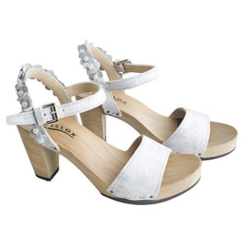 Softclox Donne Scarpa Estiva Sandalette Fayola Matrice Di Colore Bianco Partito Vacanza Tempo Libero