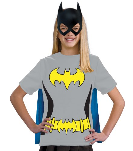 Batgirl Tshirt Costumes (Justice League Child's Batgirl 100% Cotton T-Shirt - Medium)