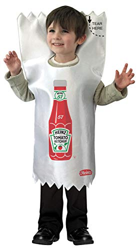 Boy's Heinz Ketchup Packet Outfit Funny Theme Toddler Halloween Costume, Toddler (3-4T) White/Red]()