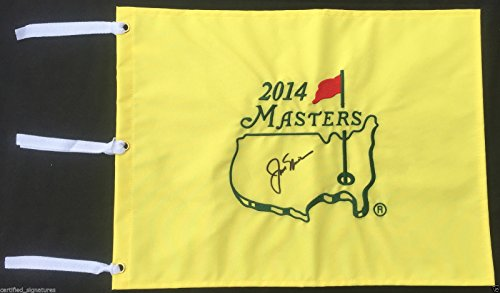 JACK NICKLAUS SIGNED 2014 AUGUSTA MASTERS GOLF PIN FLAG US OPEN PROOF COA J28