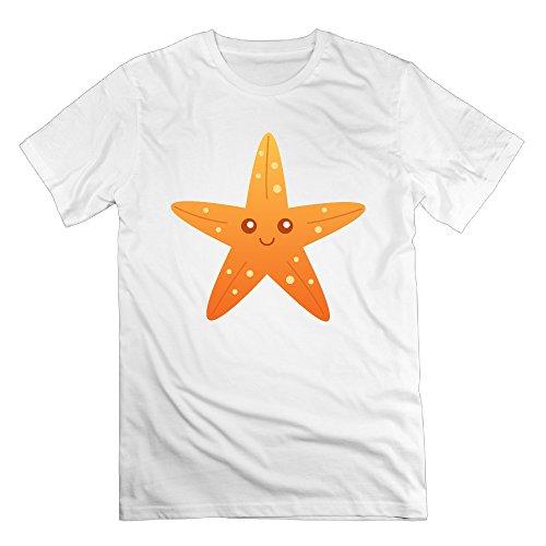 FONY Men's Cute Cartoon Starfish Clipart Short Cool T Shirts