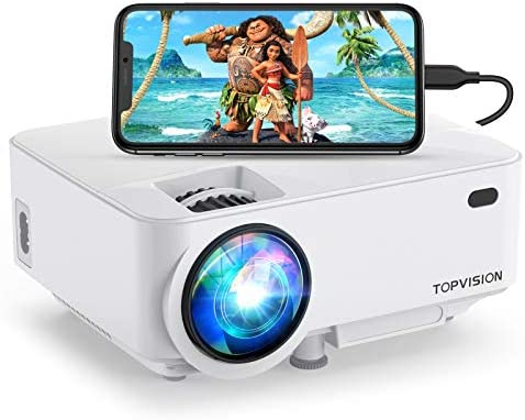 Topvision Mini Projector 4000lux Outdoor Movie Projector With Synchronize Smart Phone Screen Video Projector 1080p Supported Compatible With Fire Stick Hdmi Vga Usb Tv Box Laptop Dvd Amazon Sg Electronics