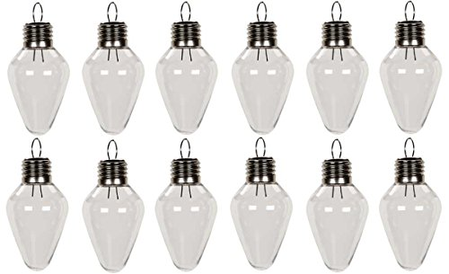 - Creative Hobbies Clear Plastic Bulb Shape Ornaments 100mm (4 Inch) Pack of 12