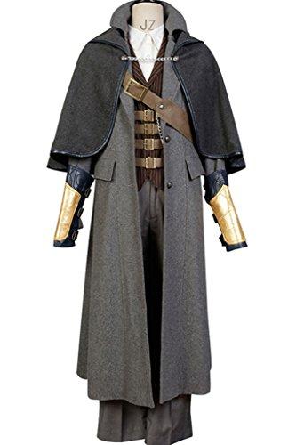mingL New Hot Men's The Hunter Whole Set Cosplay Costume Jacket Suit Tricorn (Bloodborne Hunter Costume)
